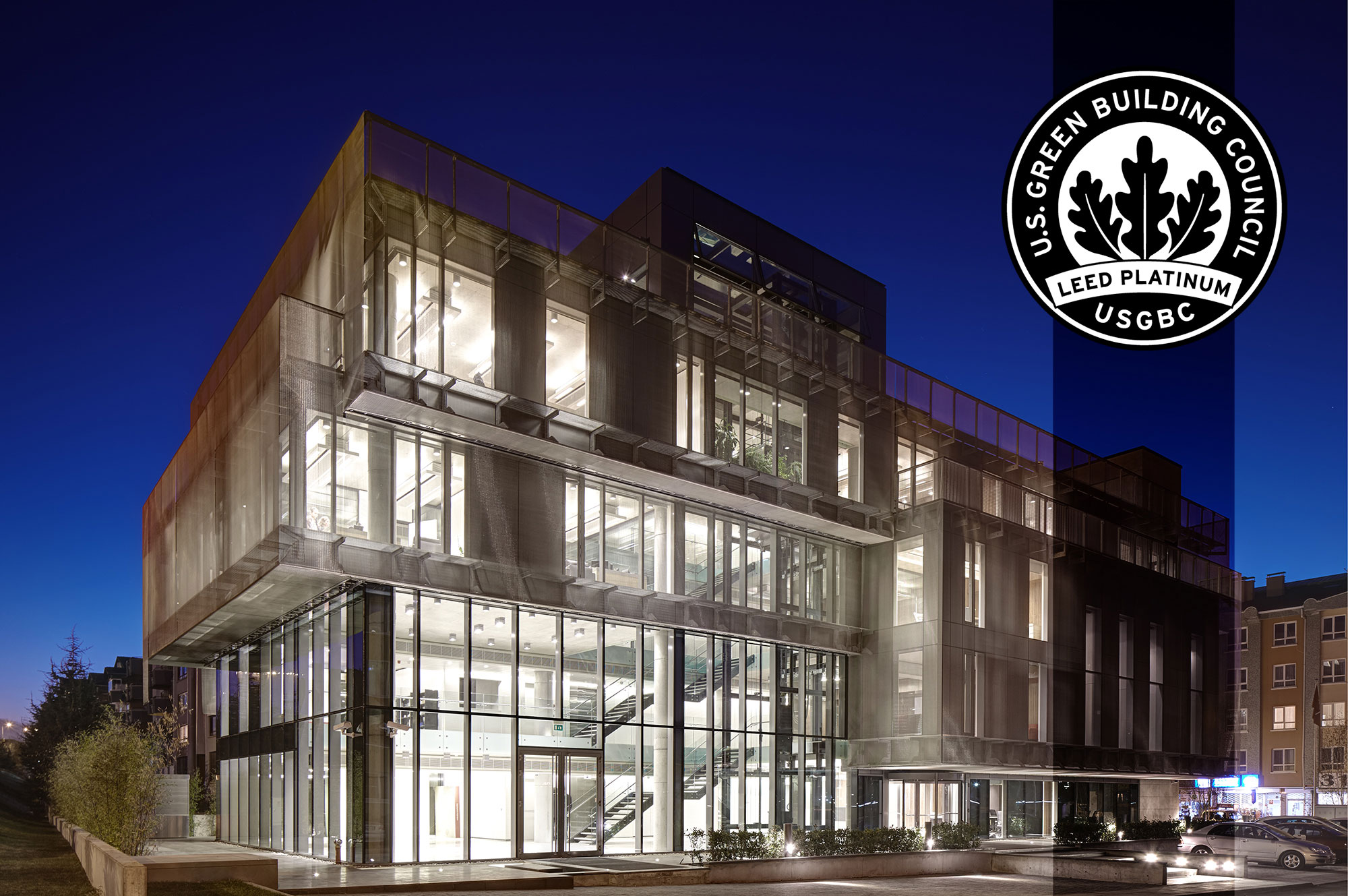 Turkish contractors association hq building achieved leed for Leed building design