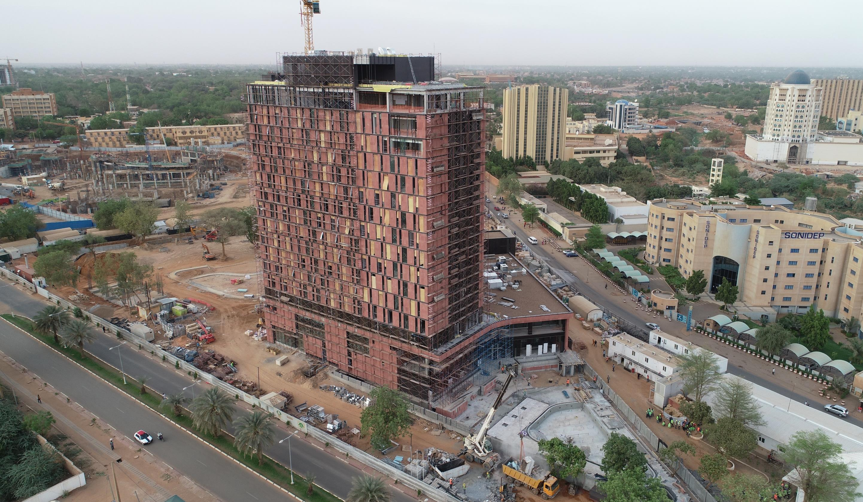 CONSTRUCTION OF NIAMEY HOTEL IS COMING TO AN END    - Avci Architects