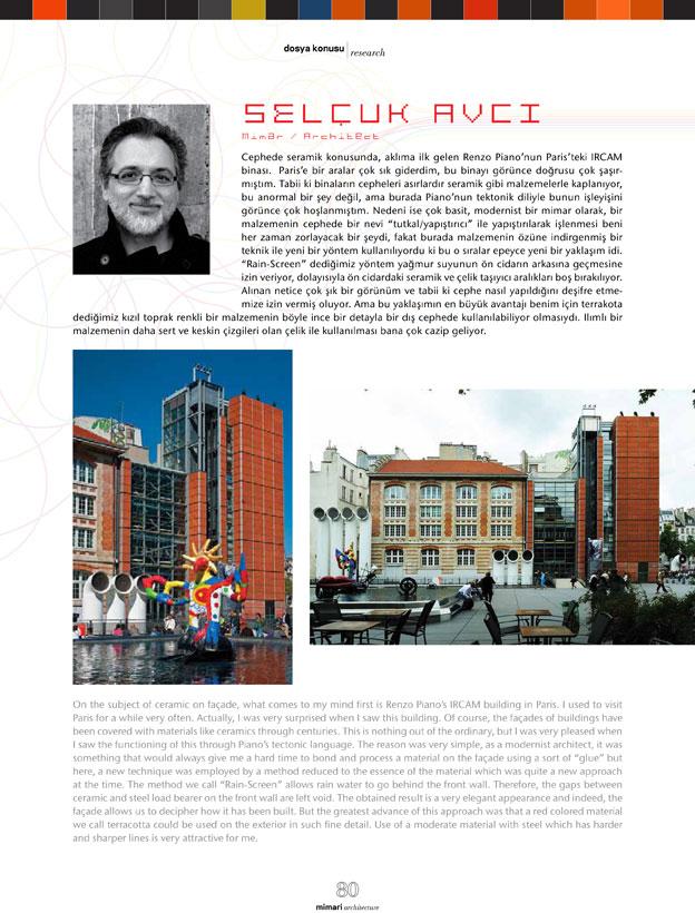 Seramik Dergisi Mart-Haziran 2013